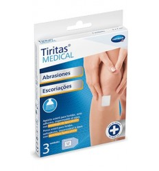 TIRITAS MEDICAL ABRASIONES 6 X 7 CM 3 UNIDADES