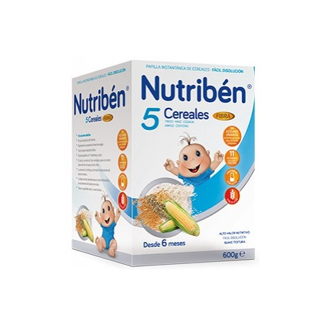 NUTRIBEN PAPILLA 5 CEREALES FIBRA 600 G