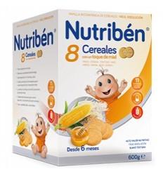 NUTRIBEN 8 CEREALES 600 GR MIEL GALLETAS