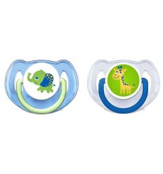 CHUPETE SILICONA PHILIPS AVENT DECORADOS 6- 18 M 2 CHUPETES COLOR