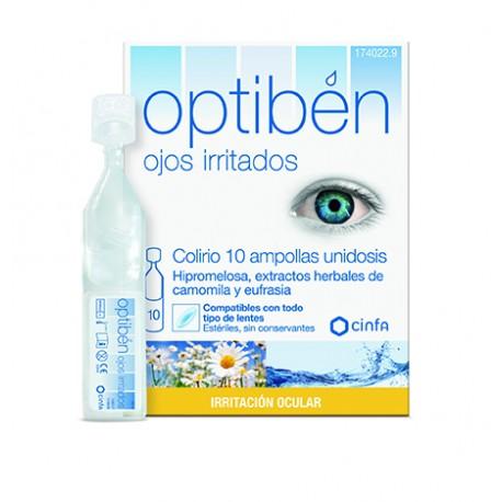 OPTIBEN OJOS IRRITADOS UNIDOSIS ESTERIL 10 AMP