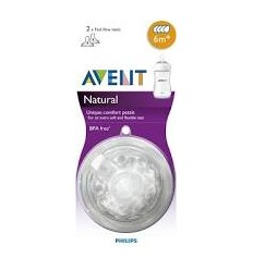 TETINA NATURAL FLUJO LENTO AVENT PHILIPS RECIEN 0 M